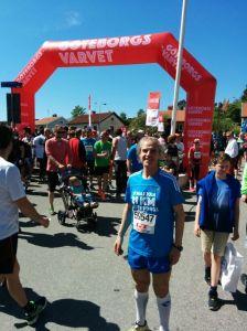 Poco antes del inicio de la carrera, 15 horas, 18 de mayo de 2014 en Göteborg