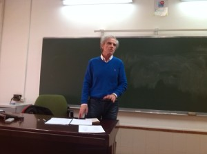 Impartiendo docencia en la Facultad, marzo, 2014
