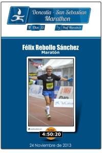 Entrada triunfal en meta del Maratón de Donostia, 2013